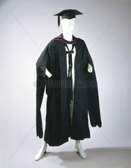 Academic gown  hood and mortar board  1895.