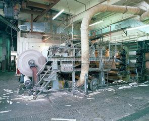 Paper-making machine  Limehouse Board Mills  London  late 1980s.