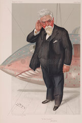 Sir Hiram Maxim  American engineer and inventor  1904.