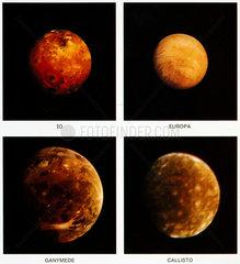 Jupiter's four 'Galilean' moons  1979.