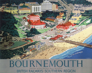 'Bournemouth'  BR poster  1947.