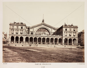 'Gare de Strasbourg'  Paris  c 1865.