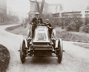 C S Rolls driving his 60 hp Mors motor car  1902.