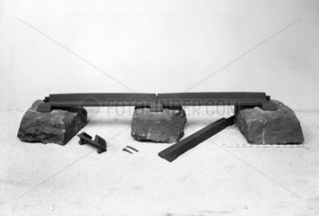 Plate rails  chairs and stone sleepers  1825-1845.