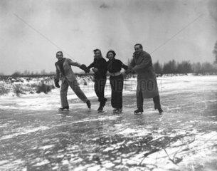 Ice skaters  20 January 1938.