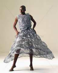 Steel wedding dress by Jeff Banks  1995.