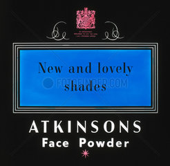 'New and Lovely Shades'  face powder advertisement  1940-1950.