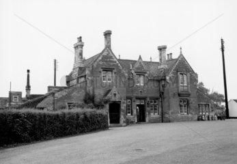 Oundle Station  Northamptonshire  1953. Oun