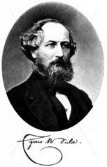 Cyrus W Field  American financier and entrepreneur  c 1875.