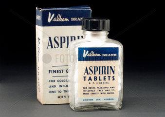 'Valkem' brand Aspirin tablets  1940-1970.