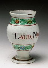 Pharmacy Vase  Italian  1780-1850.