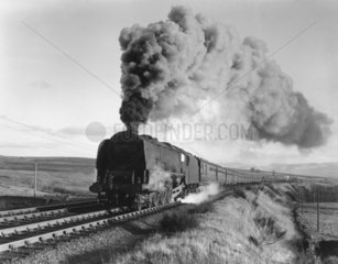 'Duchess of Sutherland' steam locomotive  Cumbria  c 1950s.