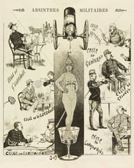 'Absinthes Militaires'  1893.