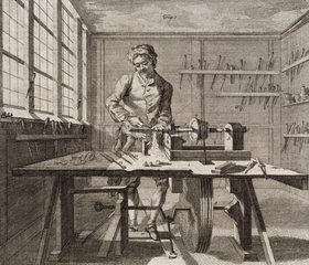 Turning wood  1754.