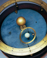 Orrery with wooden case  1718-1747.