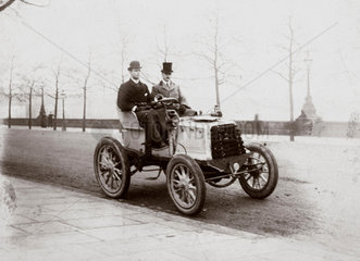 C S Rolls and Mr Ashby driving from Southampton to London  1900.