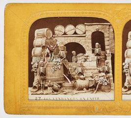 'Les Vendanges En Enfer'  c 1866 .