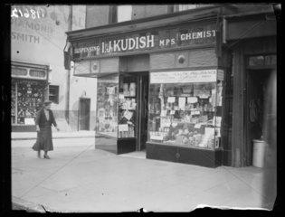 A chemist's shop  1932 .