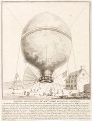 'Miolan and Janninet's Aerostatic Machine'  1784.