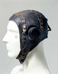 Leather flying helmet  c 1944.