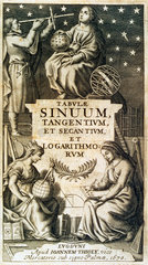 Frontispiece of Vlacq's logarithmic tables  1670.