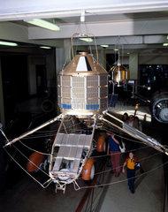 Satellite in Space Gallery  Science Museum  London  1990s.