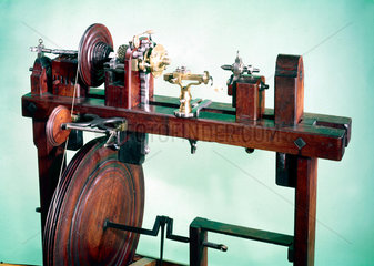 Wood turner's foot lathe  17th or early 18th century.