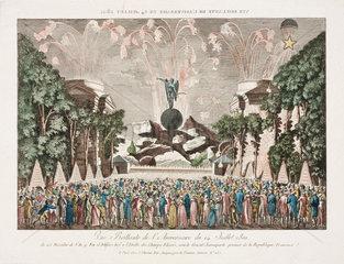 Bastille Day celebrations in Paris  14 July  1801.