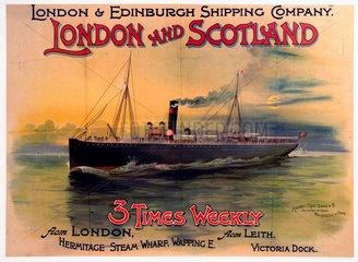 London & Edinburgh Shipping Company poster  early 20th century.