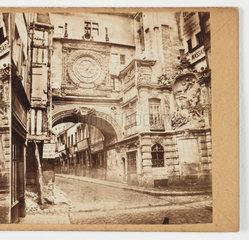 'Normandie (Rouen) - La Vieille Horloge'  c 1865 .