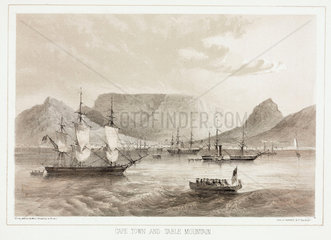 'Cape Town and Table Mountain'  1853.