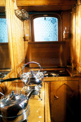 Attendant's compartment adjoining Queen Victoria's day saloon  1870-1901.