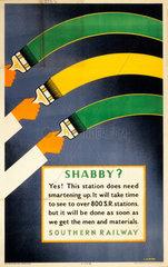 'Shabby ?'  SR poster  1945.