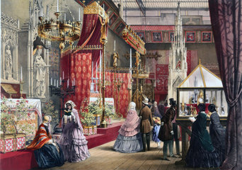 Medieval Court stand at the Great Exhibition  Crystal Palace  London  1851.