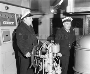 Officers on the 'Cambridge' ferry  20 February 1968.