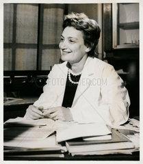 Lady Amalia Fleming  Greek bacteriologist  1959.