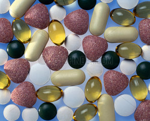 Selection of vitamins  minerals and other food supplements  1998.