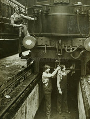 Railway cleaners  c 1918.