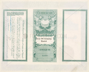 Share certificate for Acme Oil  1915.