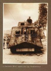 'A German Tank captured by Australians'  1918.