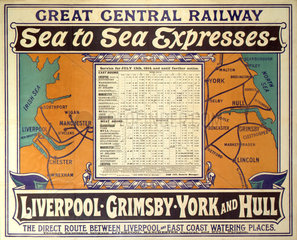 'Sea to Sea Expresses'  GCR poster  1914.