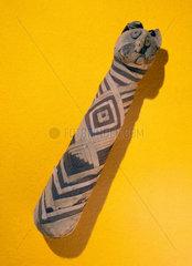 Ancient Egyptian mummified cat  2000-100 BC.