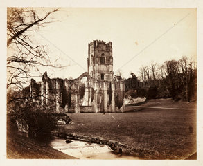 Ruined abbey  c 1855