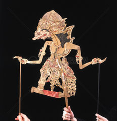 Javanese shadow puppet. Shadow plays  which