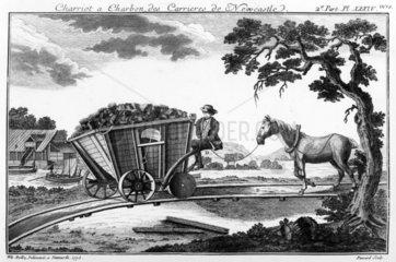 Coal wagon  Newcastle  Tyne and Wear  1773.
