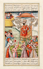 A Persian flying legend  c 1830.