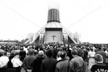 Liverpool memorial service  April 1989.