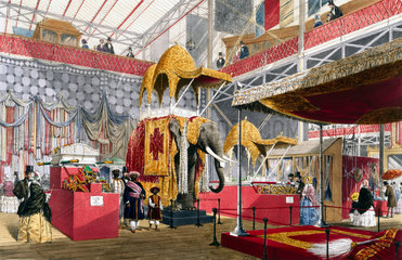 Indian No 4 stand at the Great Exhibition  Crystal Palace  London  1851.