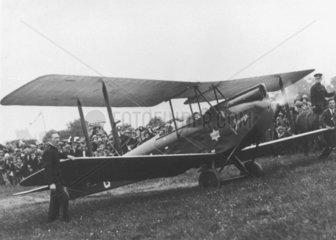 Amy Johnson's single seater de Haviland Moth biplane  'Jason'  1930.