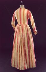 Plaid wool dress  British  c 1845.